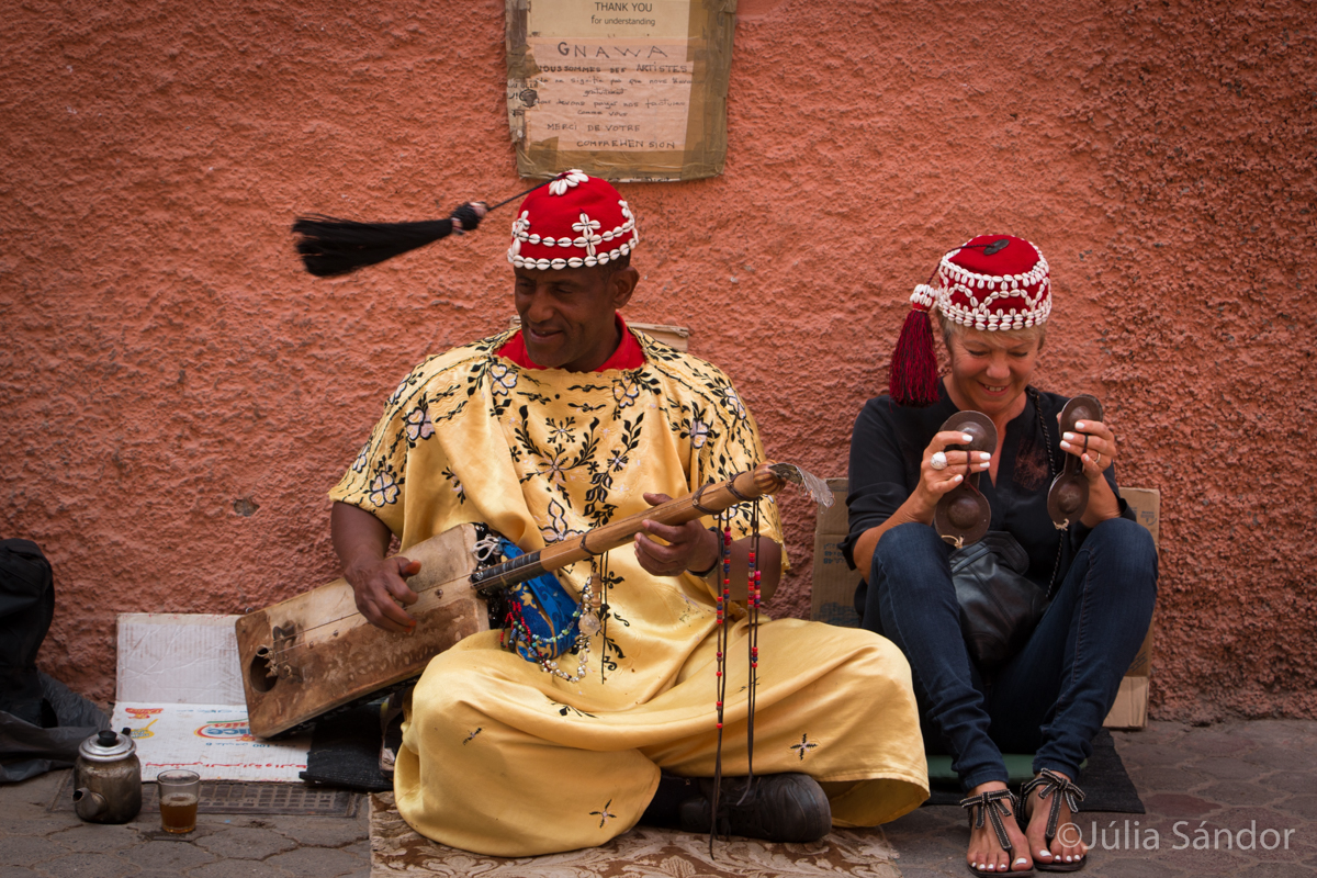Street music in Morocco