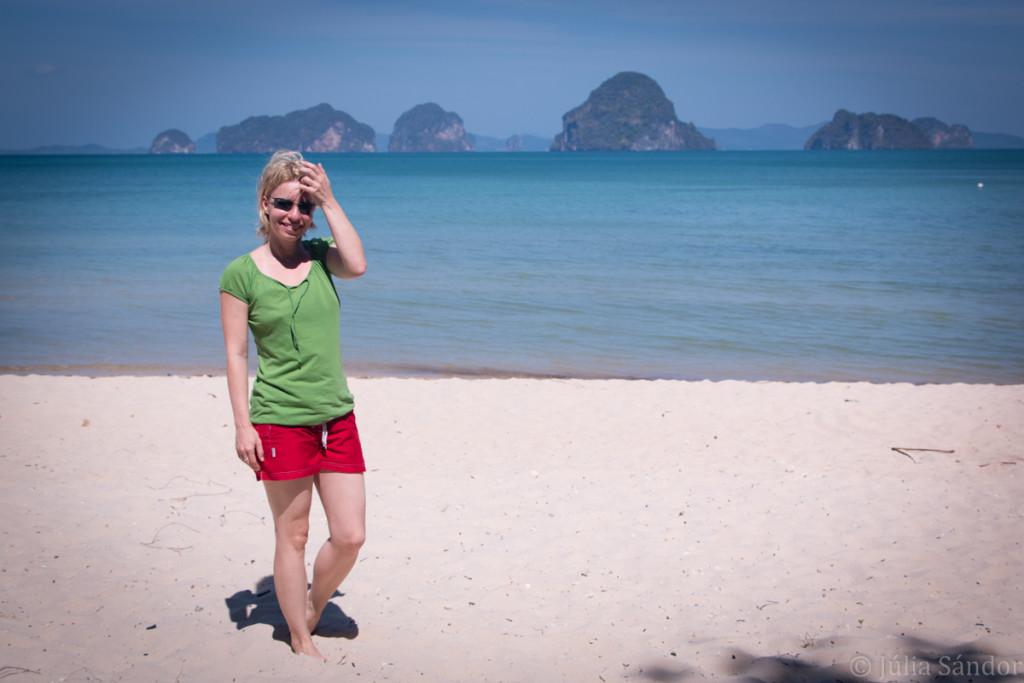 Julia walking on Tup Kaek Beach
