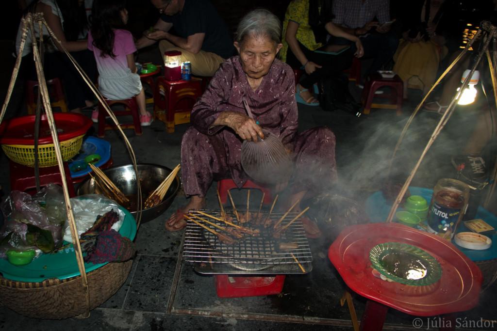 Street food vendor in Hoi An