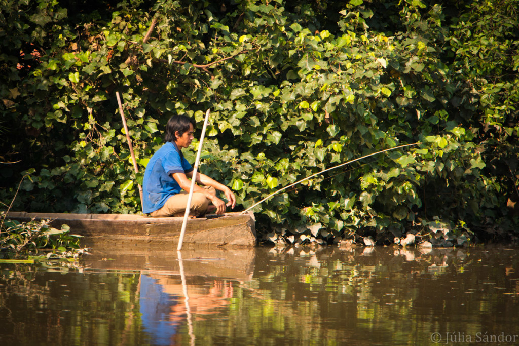 Angler in the Mekong Delta