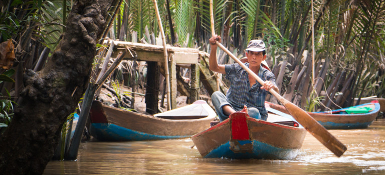On the waters of the Mekong Delta