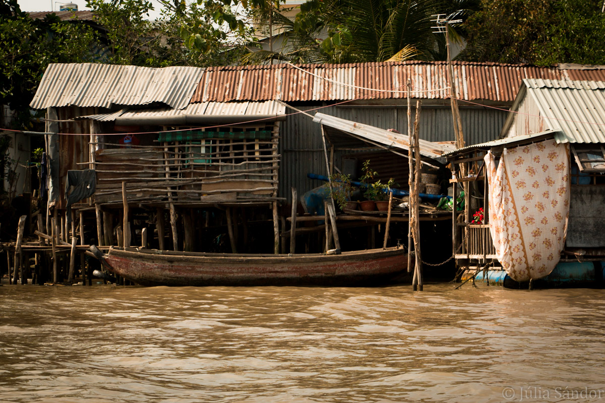Stilt house in the Mekong Delta