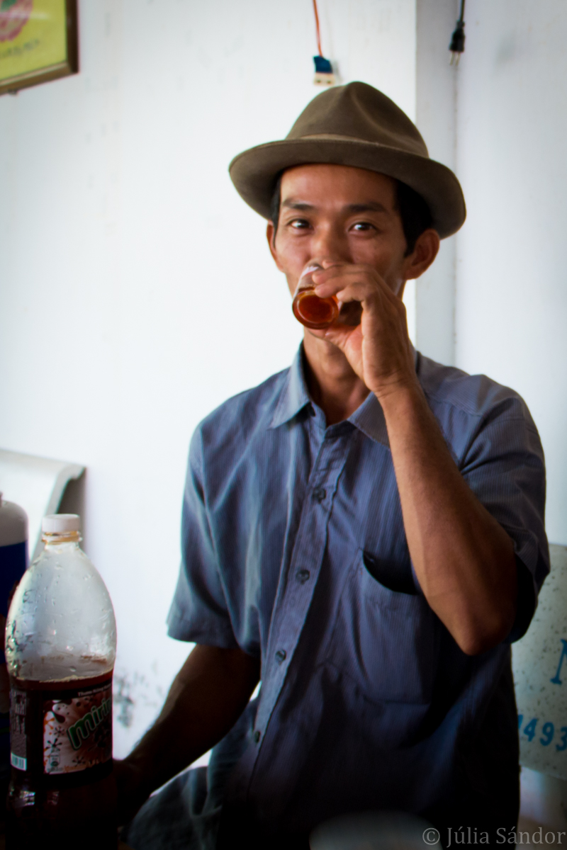 Faces of Asia: Vietnamese young man drinking tea