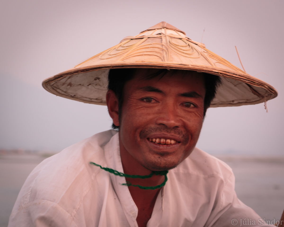 Faces of Asia: burmese man smiling