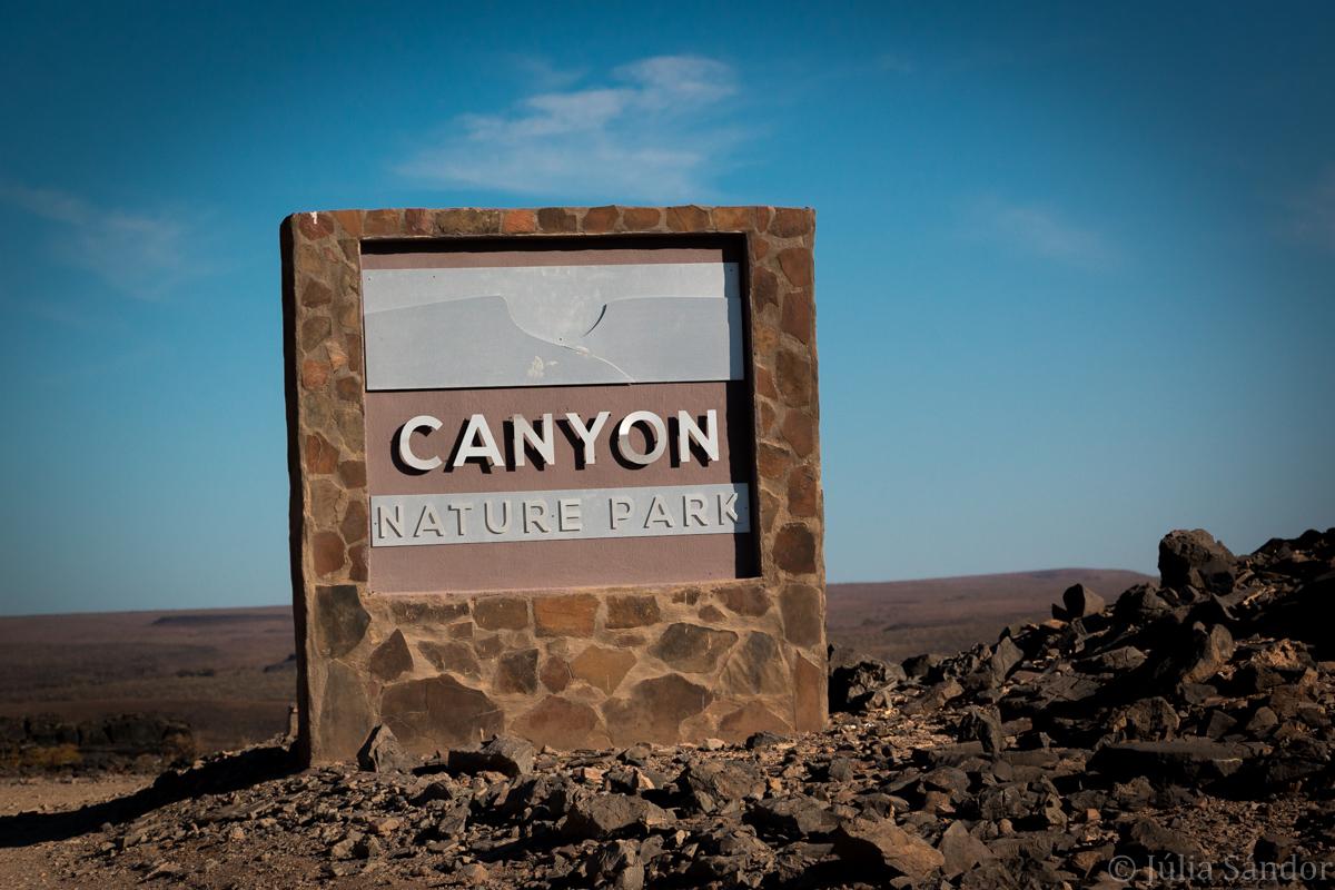 Fish River Canyon entrance