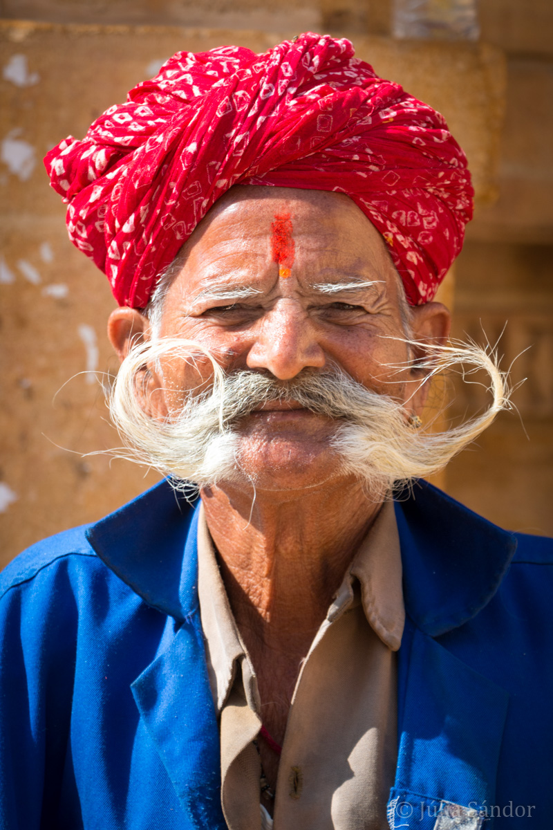 Picture of the Day: Rajasthani man with big mustache
