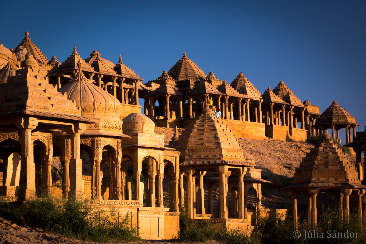 Cenotaphs in Bada Bagh near Jaisalmer, India