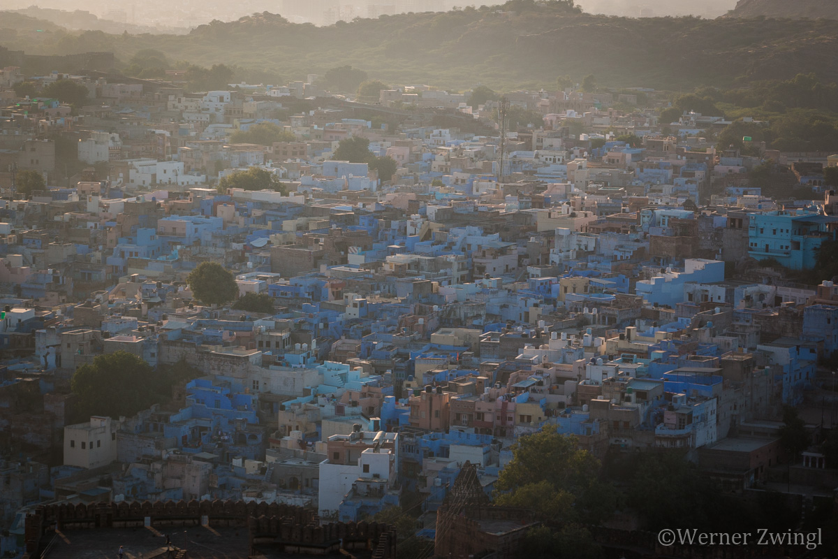 Sunset in The Blue City Jodhpur, India
