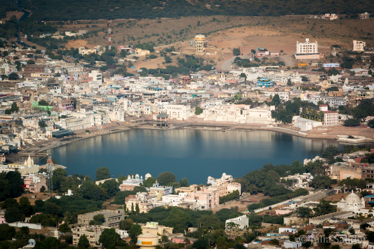 India impressions: Pushkar Lake from above