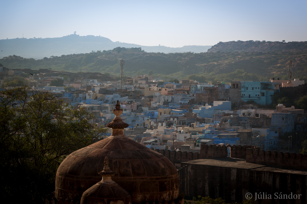 View to Jodhpur - the blue city of Radjasthan
