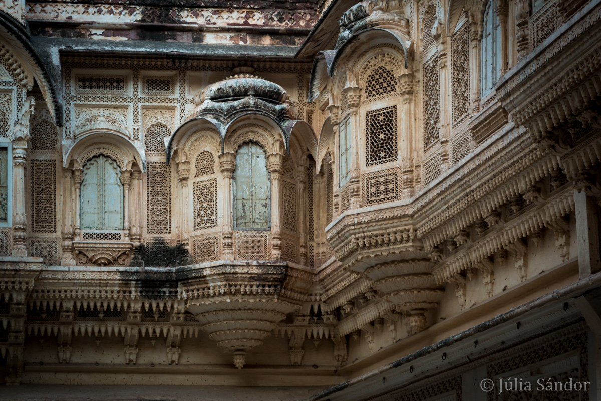 The Harem's court in Mehrangarh Fortress, Jodhpur