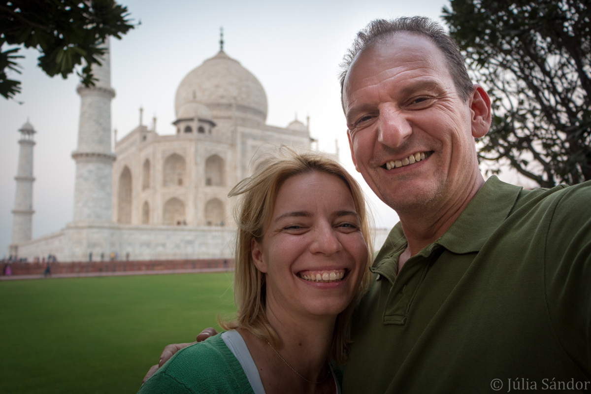 We are at the Taj Mahal