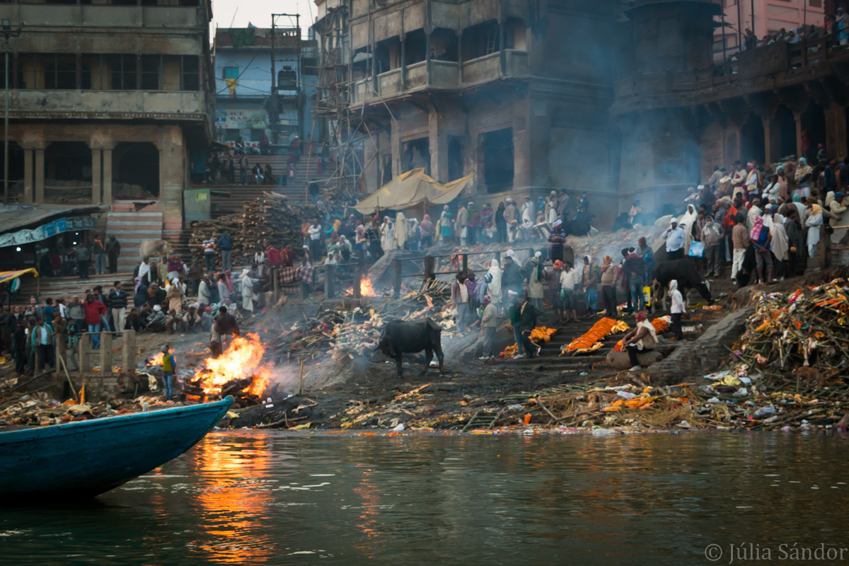 Cremation Ghat at the banks of the Ganges River