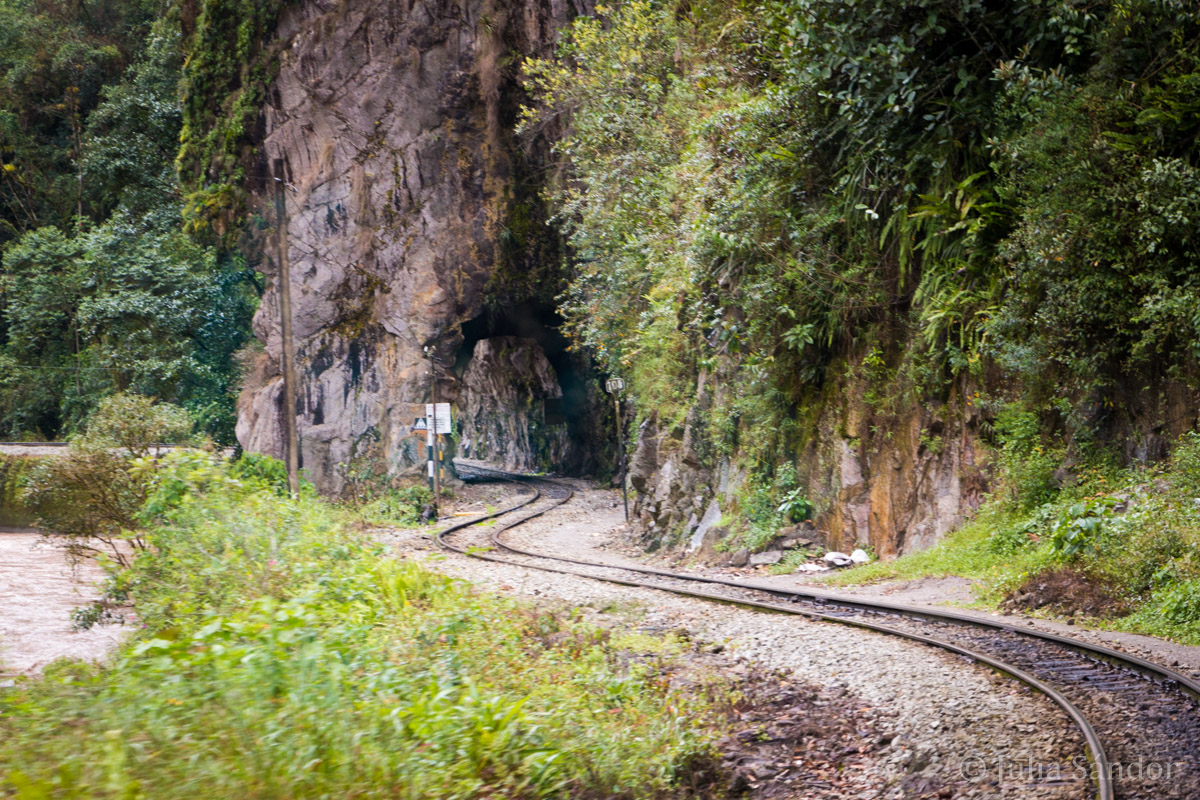 Railway leading to Machu Picchu
