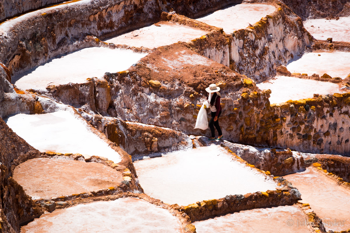 Sacred Valley Peru: view of Maras