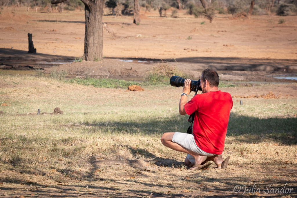 "Werner ""hunting"" with his camera"