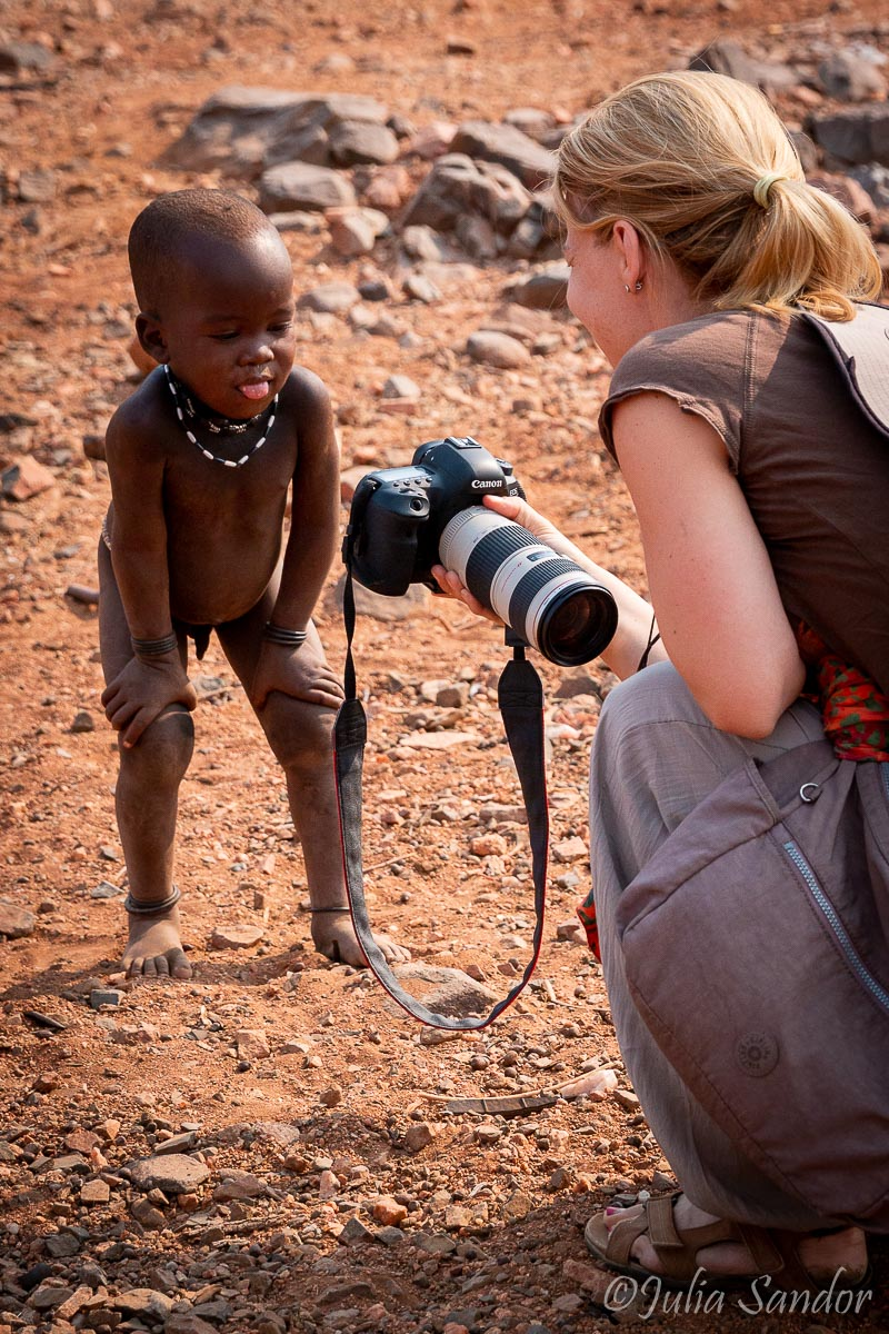 Young Himba boy checking his photo